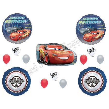 DISNEY CARS 3 Birthday Party Balloons Decoration Supplies 14 pc Lightning Cruz - Car Party Decorations