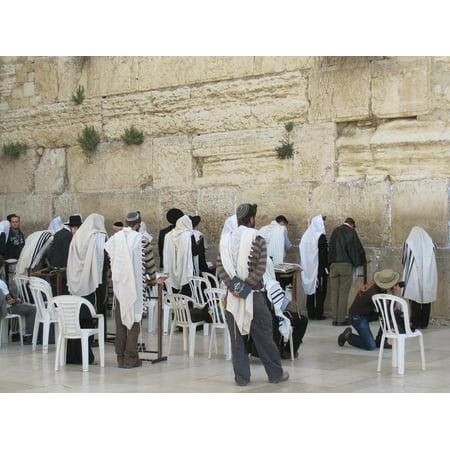 Wailing Wall Framed (Framed Art for Your Wall Judaism Jewish Israel Wailing Wall Jerusalem 10x13)