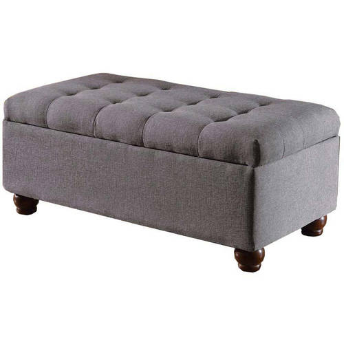 HomePop Large Tufted Storage Bench, Multiple Colors