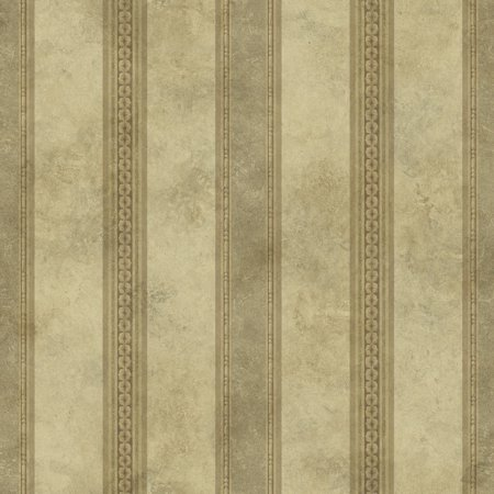 Tuscan Bronze Reflector - Warner Studios by Brewster ARB676011 Arbor Rose Tuscan Bronze Stripe Wallpaper