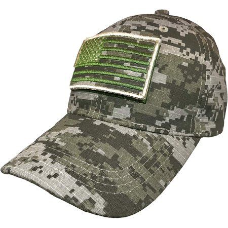 a58dab0a6b550d Black Duck Brand 100% Cotton USA Camouflage Baseball Hat w/Detachable American  Flag Patch - Walmart.com