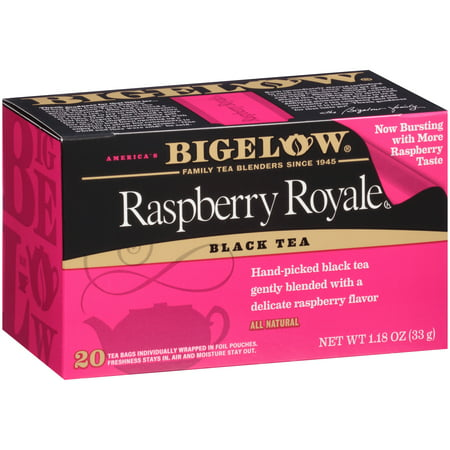 (6 Boxes) Bigelow, Raspberry Royale, Tea Bags, 20