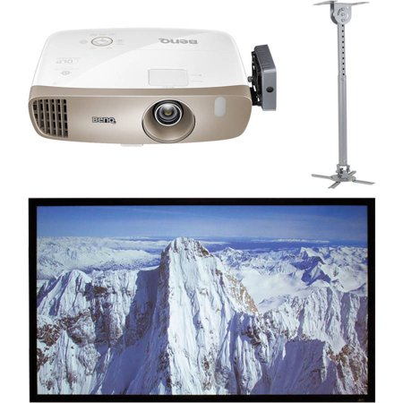 BenQ HT3050 Colorific DLP Full HD 1080P Home Theater Projector, Elite Screens ER100DHD3 100