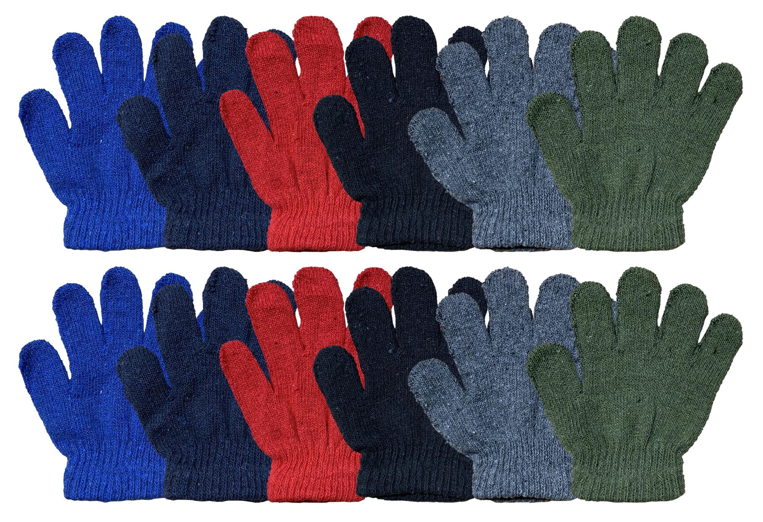 Children Stretchy Warm Knit Glovers LIMARIO Kids Winter Warm Magic Gloves