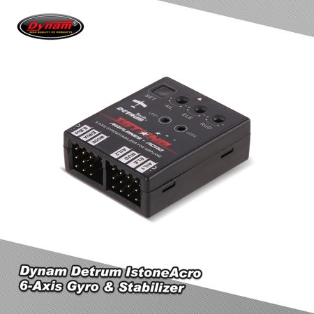 Dynam DETRUM Istone Acro 6- Gyro & Stabilizer with 3 Flight Modes for RC Airplane Fixed-wing Aircraft (Flight Stabilizer)