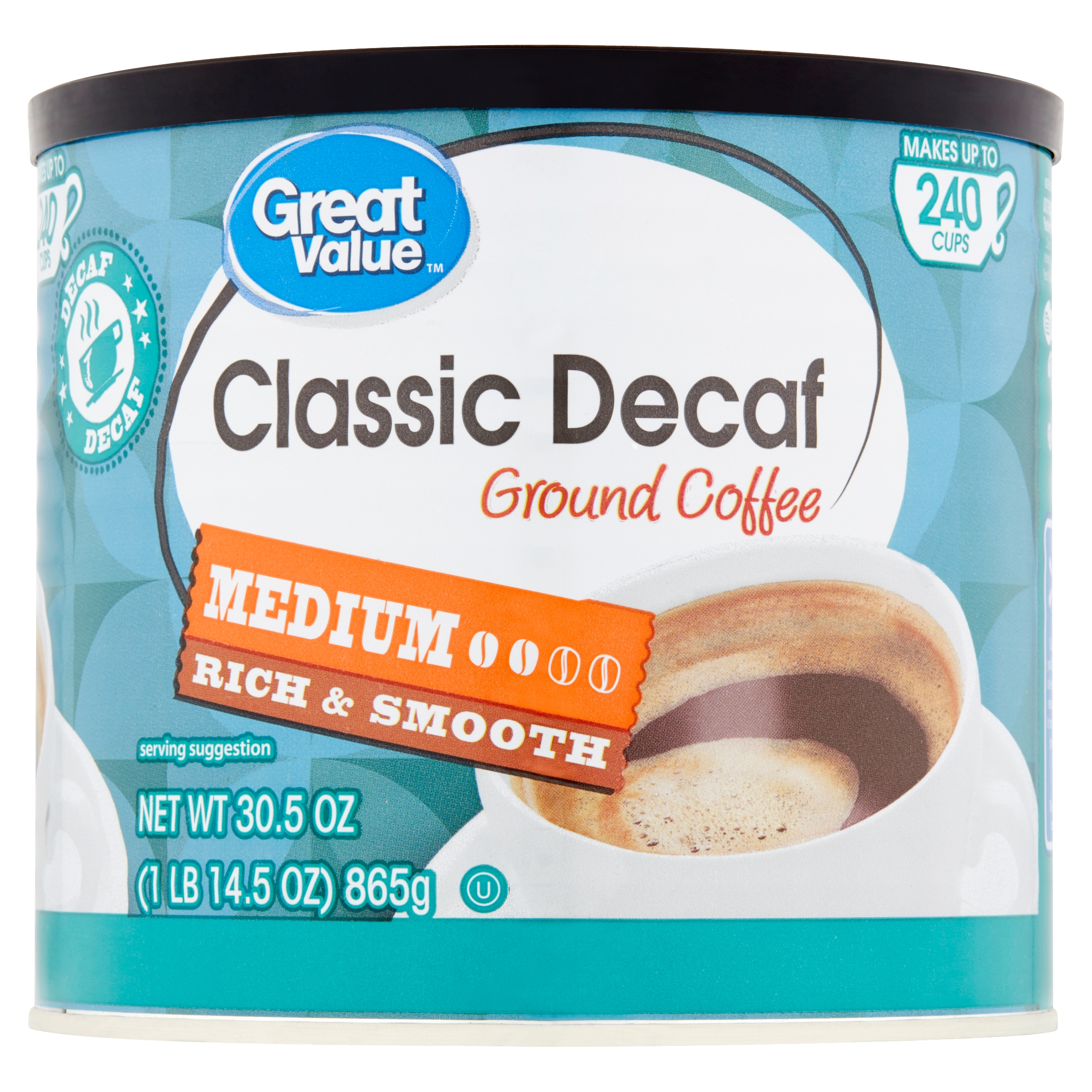 Peachy Great Value Classic Decaf Medium Ground Coffee 30 5 Oz Machost Co Dining Chair Design Ideas Machostcouk