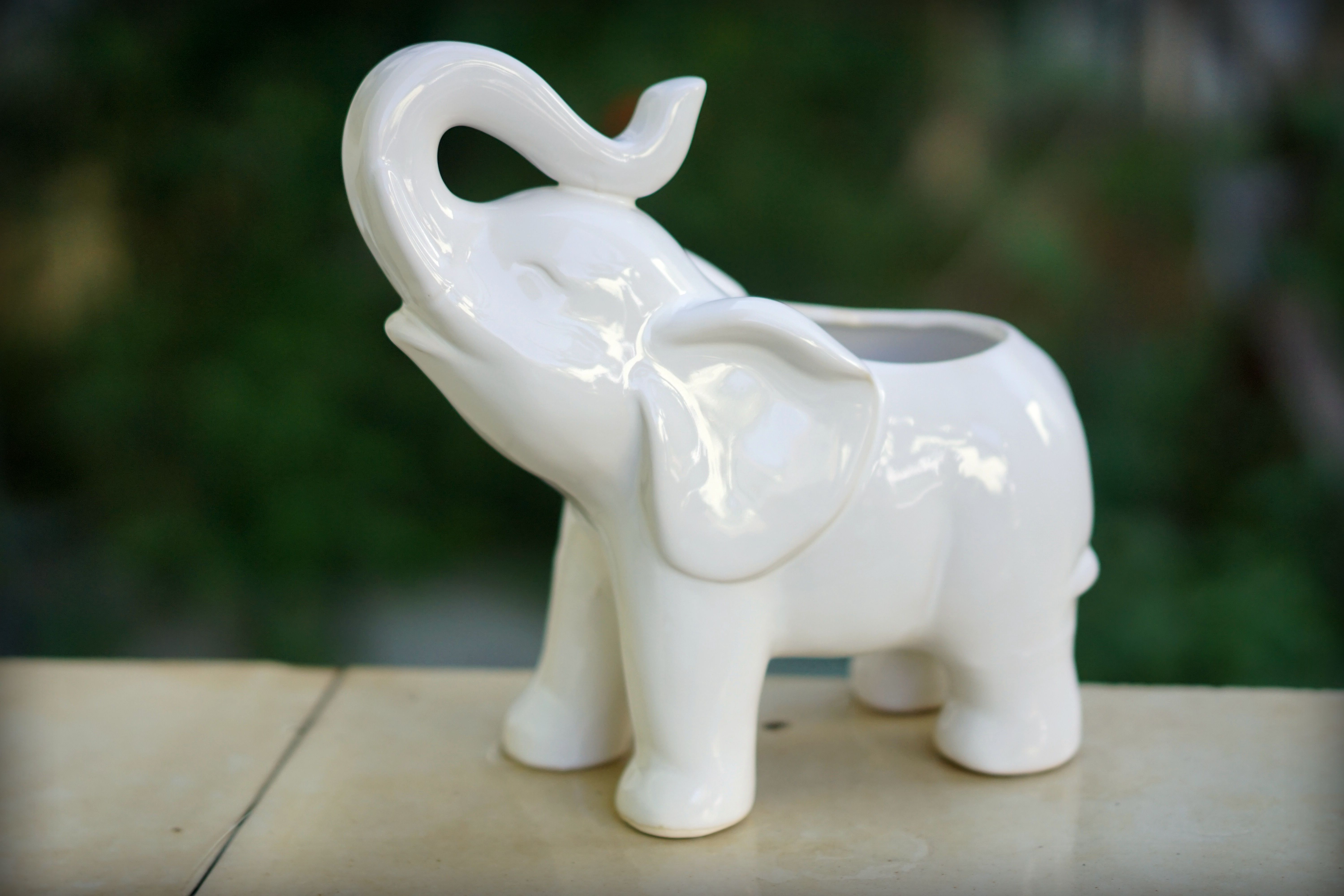 Better Homes and Gardens 10 in. Outdoor Elephant Planter by HK YIBO CERAMICS LIMITED