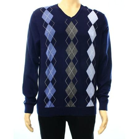 717d015554cb Club Room - Club Room NEW Navy Blue Argyle Knit Mens Size Small S V-Neck  Sweater - Walmart.com