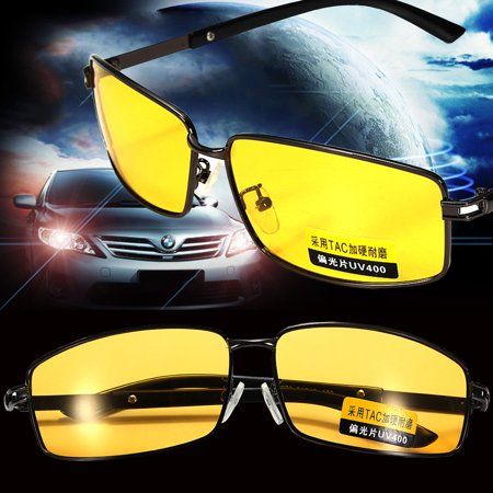 d386188654 Yellow Lens UV Protection Polarized Night Vision Glasses Eyeglasses Anti-Glare  Driving Sunglasses Sport Outdoor Riding Goggle - Walmart.com
