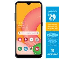 AT&T PREPAID SAMSUNG Galaxy A01,16GB Black-Prepaid Smartphone