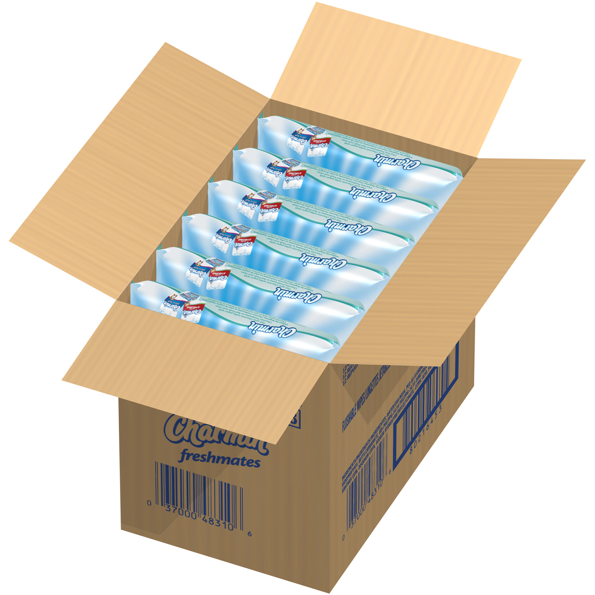 Charmin Freshmates Flushable Wet Wipes Refills, 480 sheets