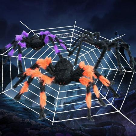 3 SIZES Halloween Prop Big Spider Webbing Indoor Outdoor Bar Decoration - image 1 of 6