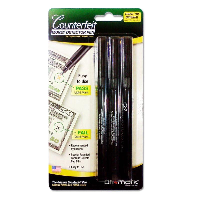 3 - DRI MARK US Dollar Counterfeit Money Detector pens - Sealed packs - DriMark