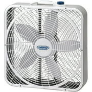"""Lasko 20"""" 3-Speed Weather-Shield Performance Box Fan with Innovative Wind Ring® system, Model 3720, White"""