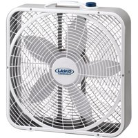 "Lasko 20"" 3-Speed Weather-Shield Performance Box Fan with Innovative Wind Ring system, Model 3720, White"