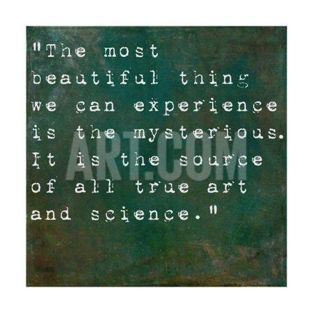 Inspirational Quote By Albert Einstein On Earthy Green Background Print Wall Art Nagib