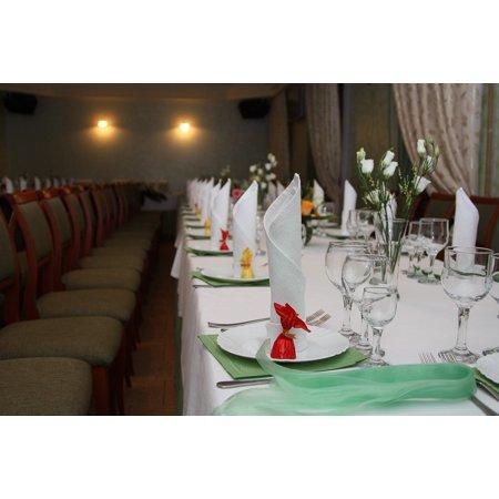Canvas Print Laying Wedding Decor Table Setting Stretched Canvas 10 x 14 - Wedding Table Setting