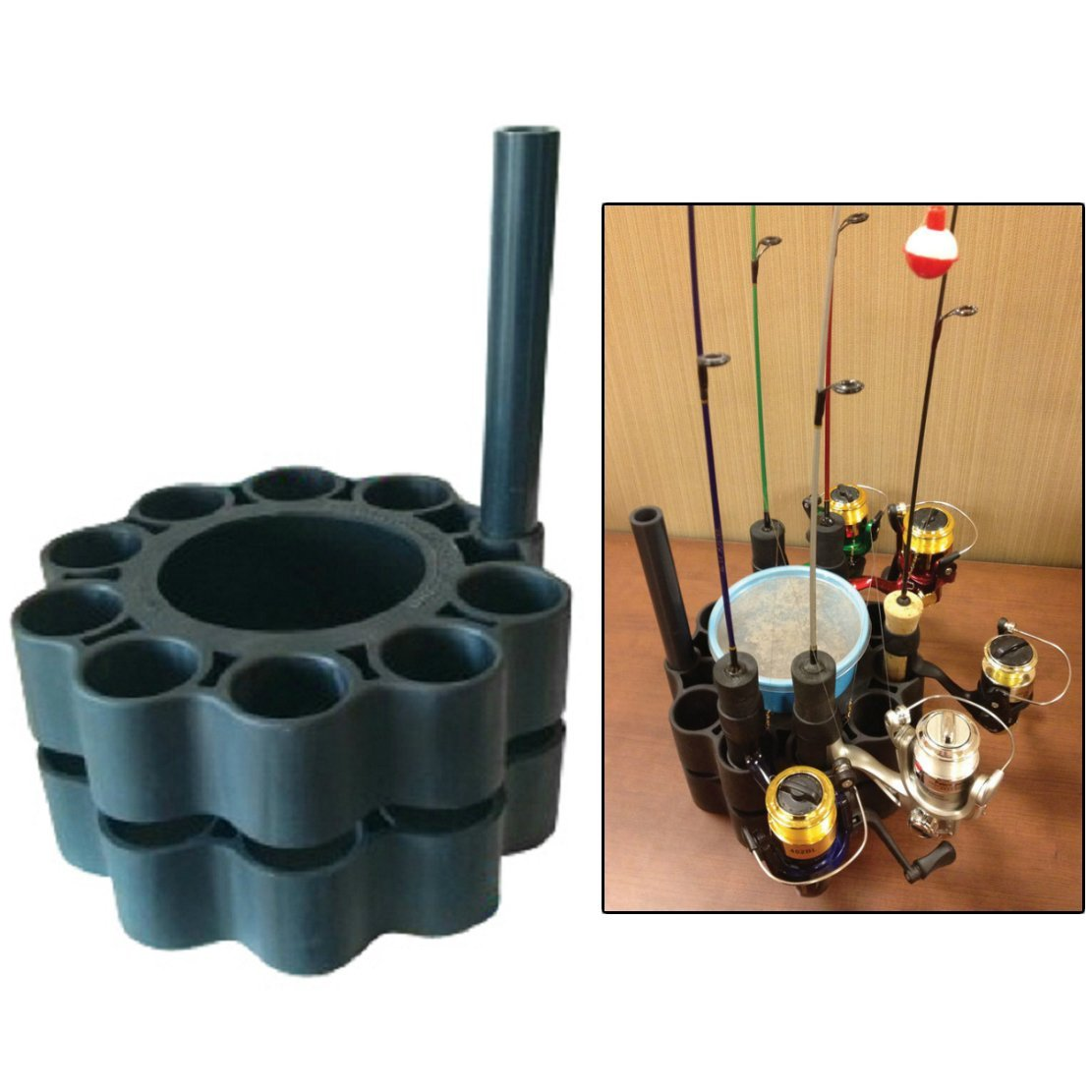 Ice Fishing Rod Retainer Holder Carrier for Multiple Poles by