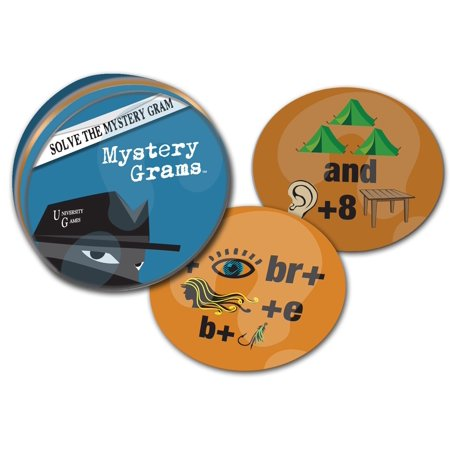 Mystery, Mind and Logic - Mystery Grams, University Games created Brain Teasers in the Mystery, Mind and Logic line for fast fun at home or on the go By University Games