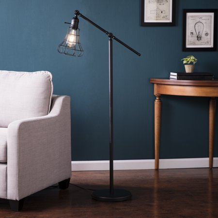 Southern Enterprises Valor Floor Lamp, Contemporary Style, Black