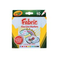 10-Color Crayola® Fabric Markers