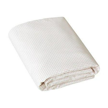 - DwellStudio Fitted Crib Sheet, Pin Dot Petal