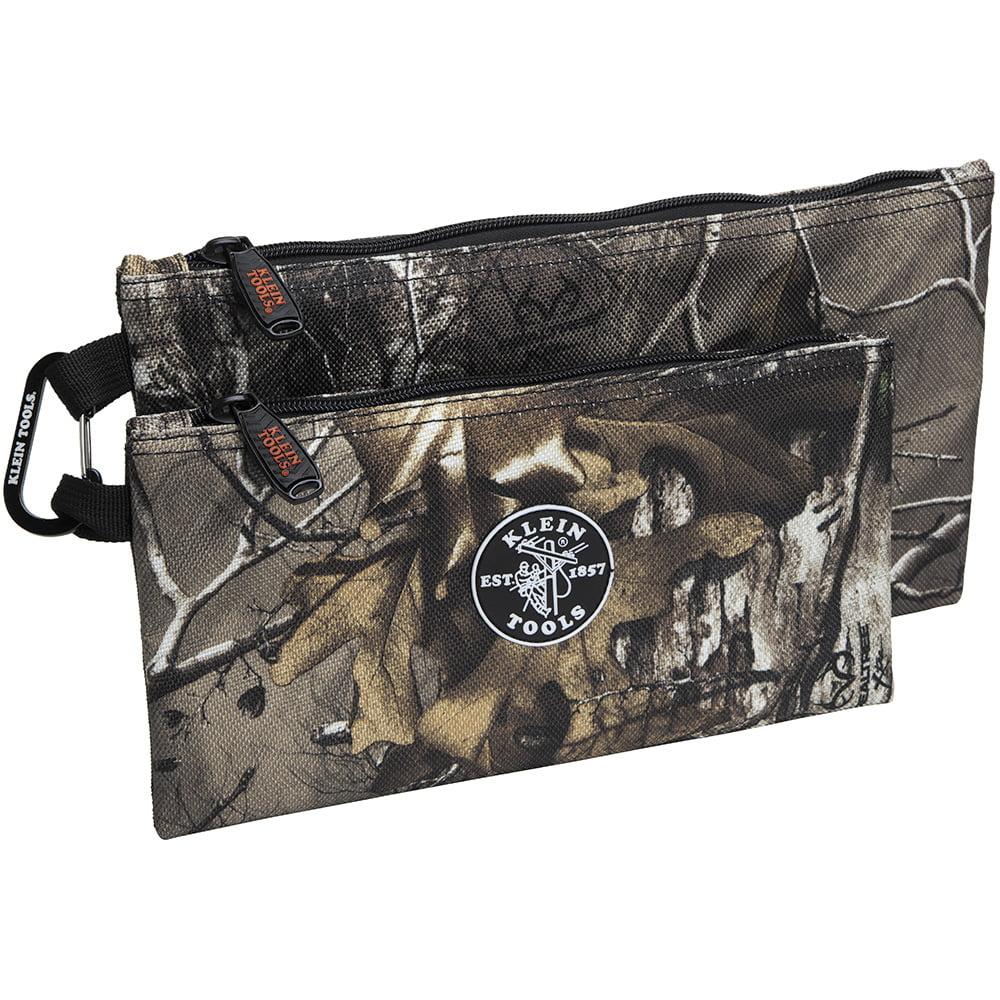 Klein Tools 55560 Camo Zipper Bags, 2-Pack