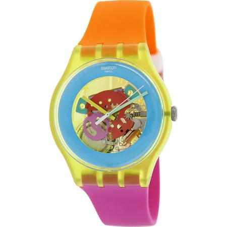 Womens Swiss Pink Watch (Swatch Women's Originals SUOJ101 Multi Silicone Swiss Quartz Fashion)