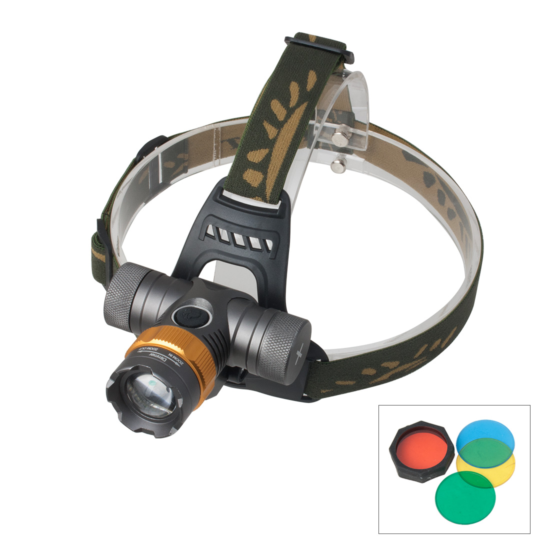 Zoom Zoomable Focus  Headlamp Bicycle Light Torch Lamp Super Bright 5 Modes