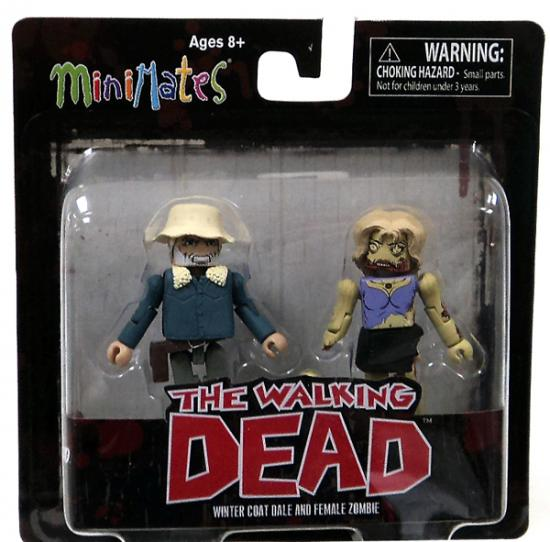 Winter Coat Dale & Female Zombie Minifigure 2-Pack Minimates Series 1
