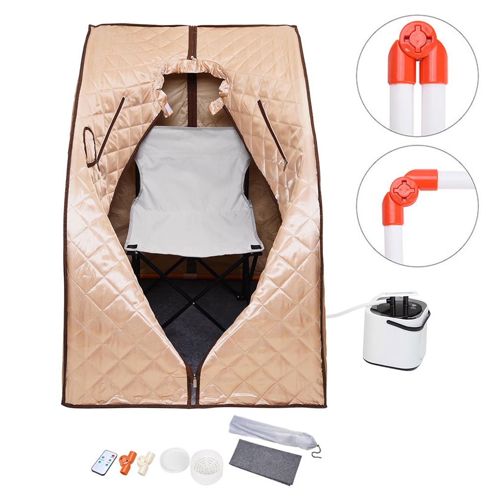 2L Portable Steam Sauna Kit SPA Slimming Detox Weight Loss Indoor Home w/ Chair Color Opt