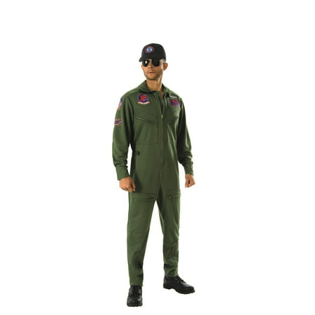 Top Gun Adult Deluxe Halloween - Halloween Skull Makeup Guy