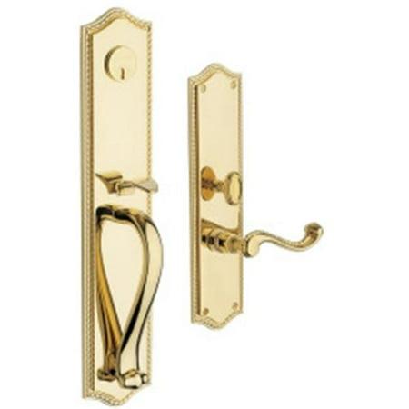 Baldwin 6963003LFD Bristol Set Trim Front Door Handle, Lifetime Polished Brass ()
