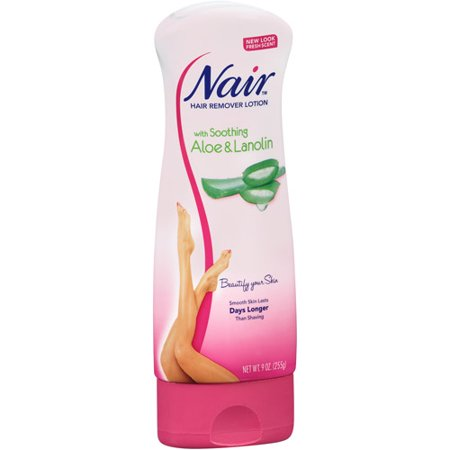 - Nair with Soothing Aloe & Lanolin Hair Remover Lotion 9 oz