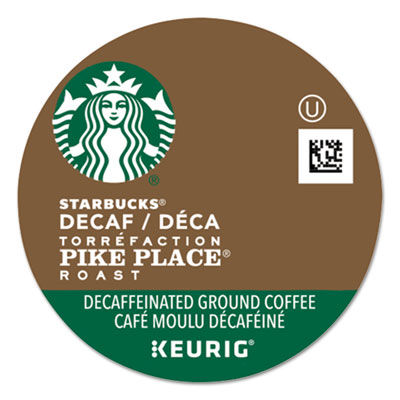 Pike Place Decaf Coffee K-Cups Pack, 24/Box 011068092