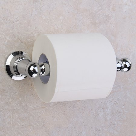 Stainless Steel Toilet Tissue Paper Roll Holder Bath Wall Mount Hook DIY Silver - image 5 of 5