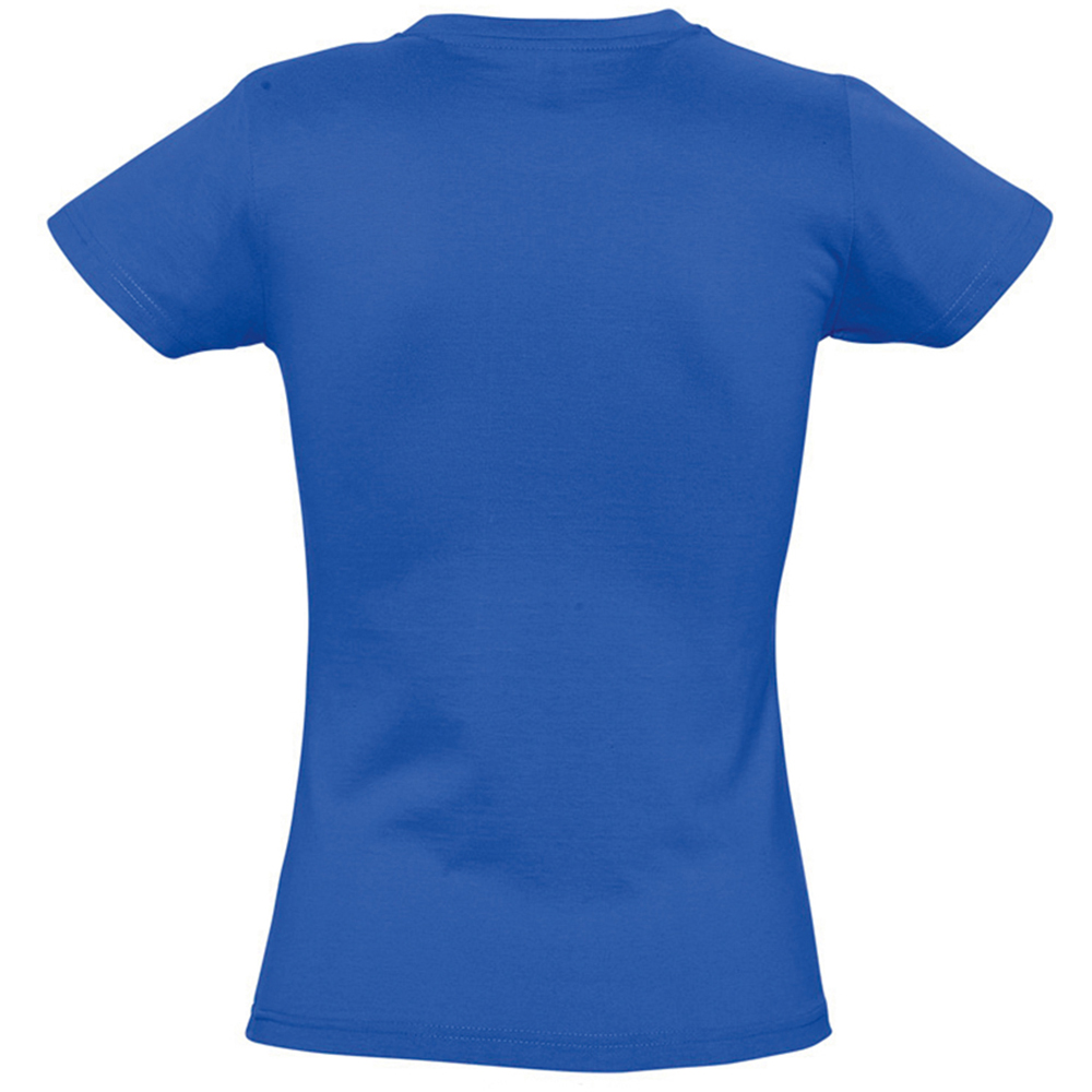 Womens Ladies Imperial Heavy Short Sleeve T-Shirt Summer Cotton Casual Top Plain