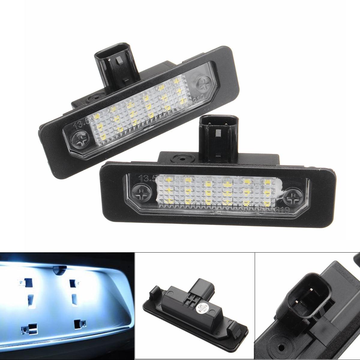 2x Universal Car License Plate Light Car Accessories Rearview Rear Left Right Light Lamps For Flex Taurus Focus