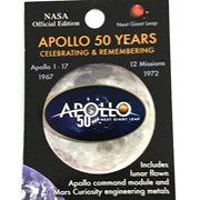NASA Apollo 50th Anniversary Lapel Pin Contains Flown Command Module Metal That Went to the Moon