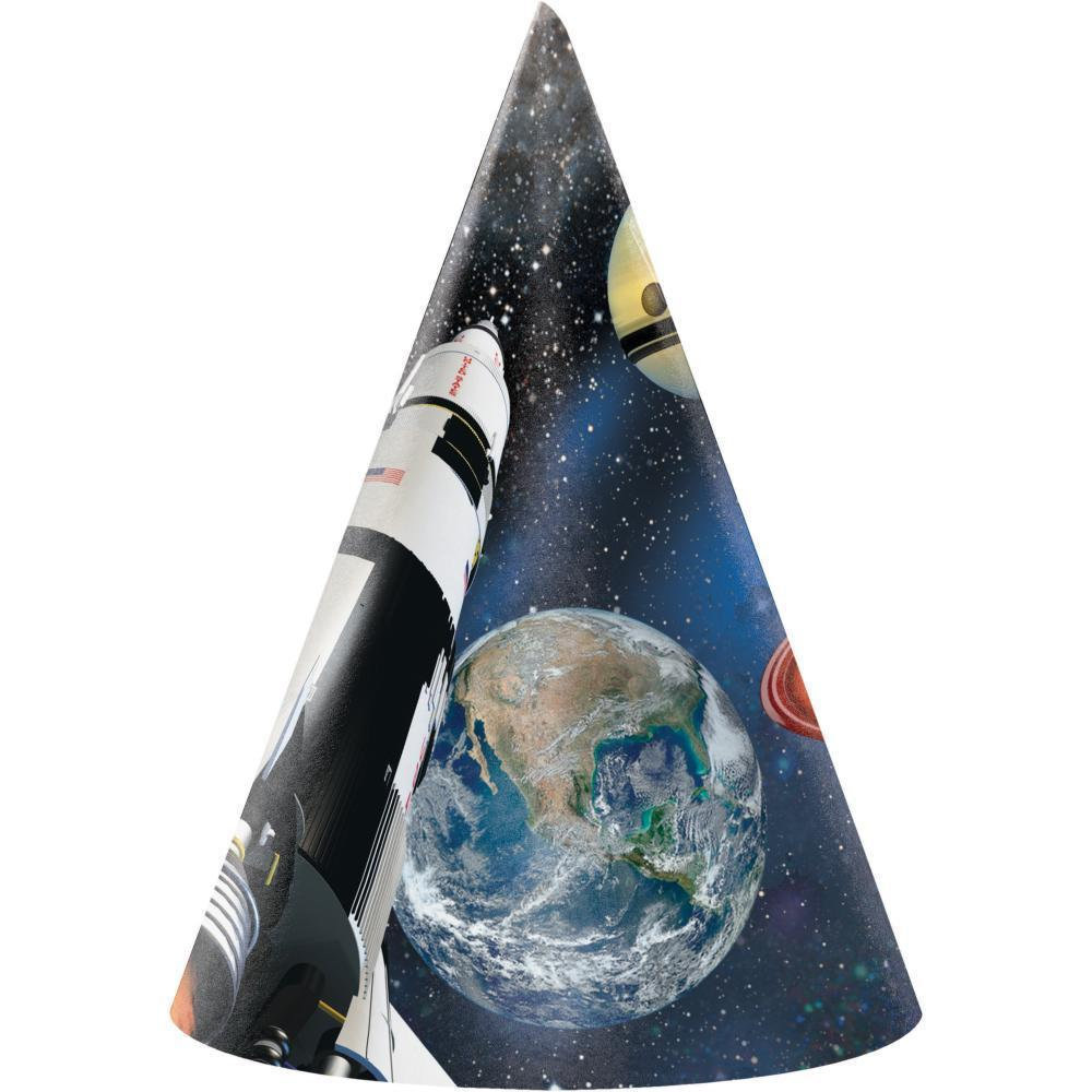 Creative Converting Space Blast Party Hats, 8 ct