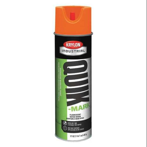 KRYLON Marking Paint,Fluorescent Orange,10 min., K04003004
