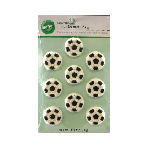 Soccer Ball Icing Decorations Extraordinary Wilton Soccer Balls Icing Decorations Perfect For Topping Cupcakes 2018