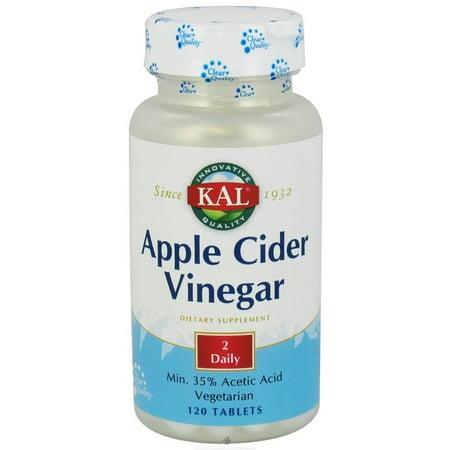 Kal - Apple Cider Vinegar - 120 Tablets (Soaking Feet In Apple Cider Vinegar For Fungus)