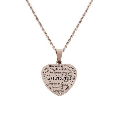 Grandma Tag (Heart Tag Necklace - Grandma )