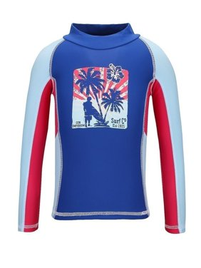 Sun Emporium Baby Boys Blue Red Vintage Surfer Long Sleeve Rash Shirt
