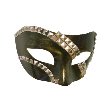 Adult's Green Venetian Party Festival Tie Mask Costume Accessory