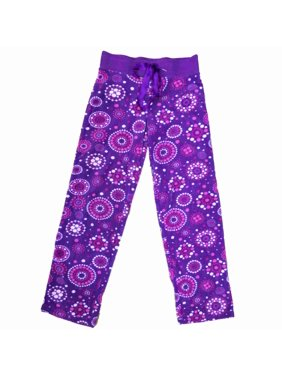 Womens Purple Pink & White Mandala Sleep Pants Dotted Fleece Pajama Bottoms 3X