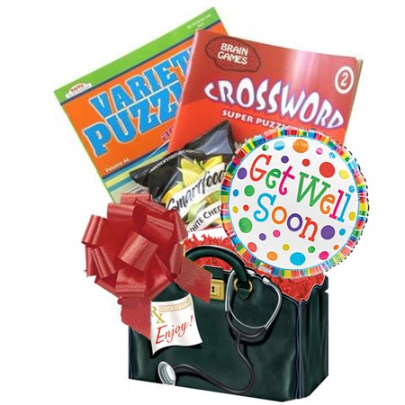 Get Well Soon Gift Box: for Men, Women, Teens with Puzzle Books an Entertaining Get Well