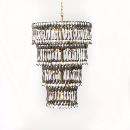 Custom Made Chandelier - Very Large Chandelier Made of Vintage Silverplate Spoons, Custom Art, Upcycled
