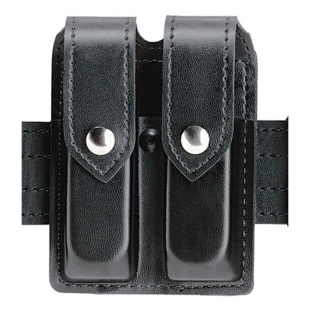 safariland duty gear glock 20, 21, chrome snap double handgun magazine pouch (plain